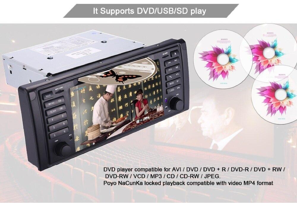 Original UI 1 din Car DVD player for BMW E39 X5 Range rover GPS Wifi  Bluetooth Radio USB SD Steering wheel Control Camera map