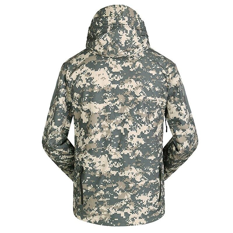 escudo macio dos homens blusão casaco de