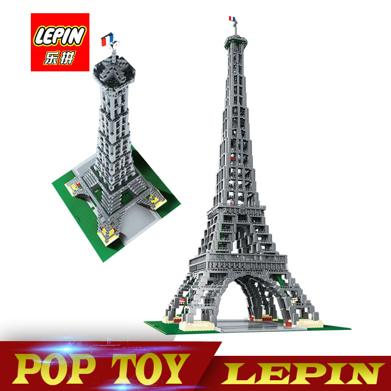 New Lepin 17002 3478Pcs Paris Eiffel Tower Model Building Kits Blocks Bricks Compatible Children Toys With 10181 new lepin 16009 1151pcs queen anne s revenge pirates of the caribbean building blocks set compatible legoed with 4195 children