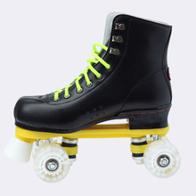Japy patines patinar patines double line negro con ruedas de poliuretano Unsex blanco Modelos Adultos Zapatos de Patinaje sobre ruedas 4 Ruedas de Dos líneas