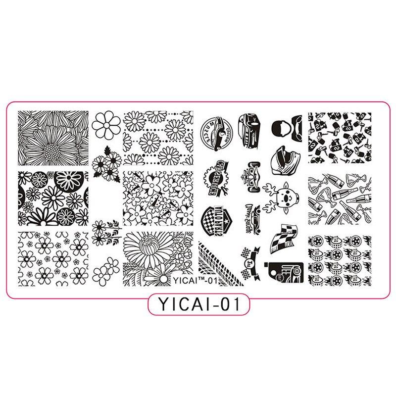 Nail Art Yicai-01 1pc Stamping Plate 2018 Novelties Cars/helmet Nail Design Stamp Plates For Nails Nail Printing Stamping Manicure Mfnail Nails Art & Tools