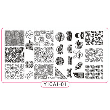 YICAI-01 1pc Stamping Plate 2018 Novelties Cars/Helmet Nail Design Stamp Plates For Nails Printing Manicure MFNAIL