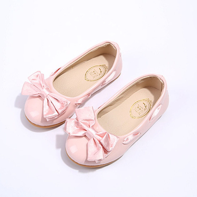 2017 Spring New Kids Girls Shoes Ribbon Bow Children's Ballet Flats Slip Baby Casual Shoes Toddlers Footwear