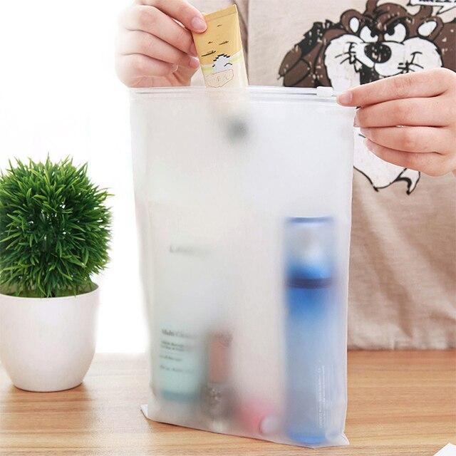 7 pçs/set saco de armazenamento de viagem organizador de bagagem transparente saco de lavanderia roupas de higiene pessoal arrumado bolsa de jóias ziplock saco com zíper