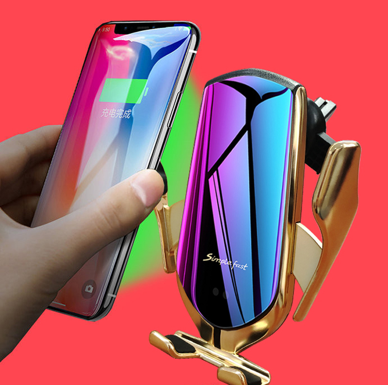 Automatic Clamping Car Wireless Charger For IPhone X XR XS 8 Plus Galaxy S10 S9 S8 Fast Charge Air Vent Mount Phone Holder