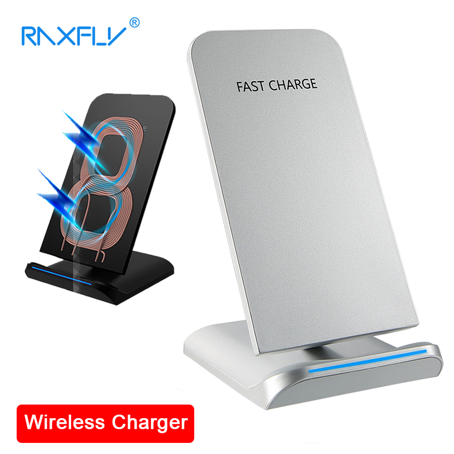 RAXFLY QI Wireless Charger For iPhone X Smart IC Wireless