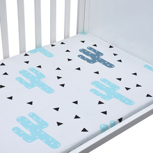 Crib Fitted Sheet Soft Baby Bedding Sheet