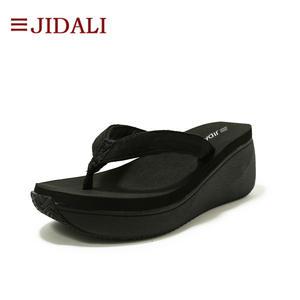 ab9fda443ae34b JIDALI Fashion Women Shoes Black Ladies Flip Flop High Platform Wedge EVA  Casual Sandals Summer Size 35-40