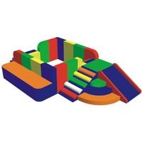 環境puソフトウェア木製フレームとスポンジボールプールぬいぐるみプラント用キッド遊び場セットYLW-INA171023