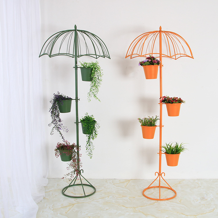 Plant Shelves Support For Flowers Plant Stand Shelf For Flower Sun Umbrella Stand Home Living Room Iron