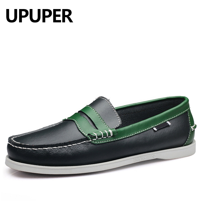 New Fashion Boat Shoes Men Slip On Genuine Leather Loafers Breathable Driving Shoes Men Soft Moccasins Comfortable Casual Shoes 2017 new brand breathable men s casual car driving shoes men loafers high quality genuine leather shoes soft moccasins flats