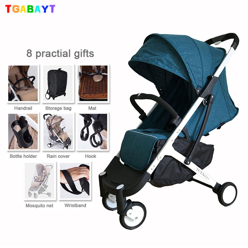 TGABAYT lightweight stroller with gifts yoyaplus style baby carriage can sit lie folding stroller ultra-light portable on plane