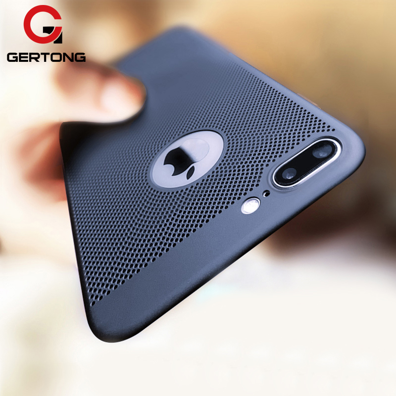 GerTong Heat Dissipation Phone Case For iPhone X 10 8 7 6 6s Plus 5 5s SE Cover Cool Matte Hard PC Cases For iPhone XS MAX XR(China)