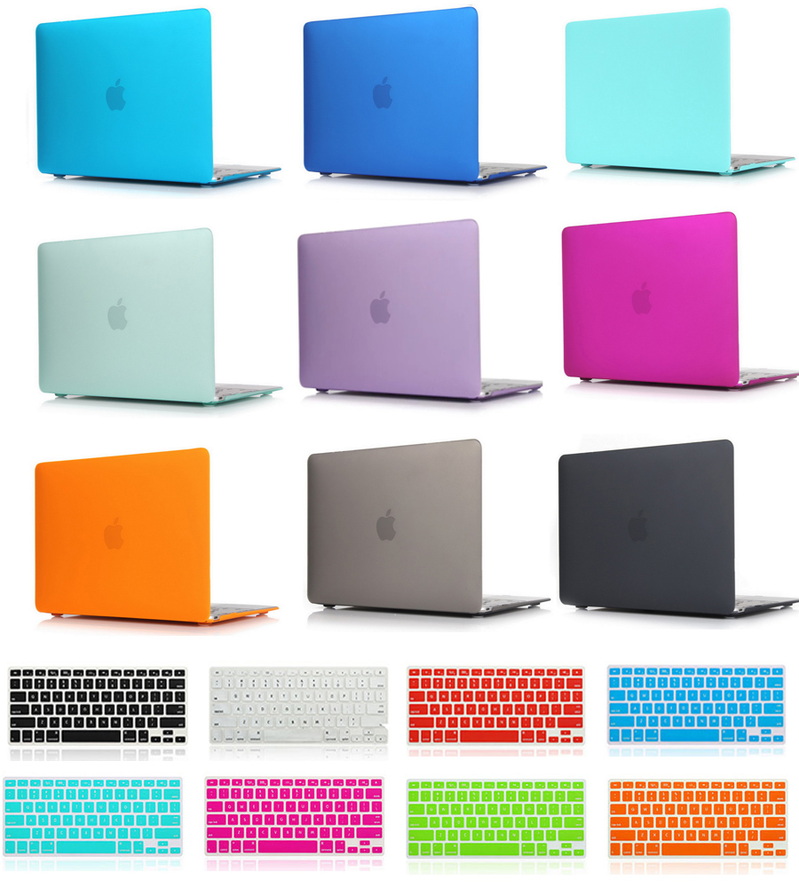 Matte Rubberized Hard Case+keyboard Cover For Macbook Pro 13 15 16 A2141 Pro Retina 12 13 15 Air 11 13 A2159 A1990 laptop bag