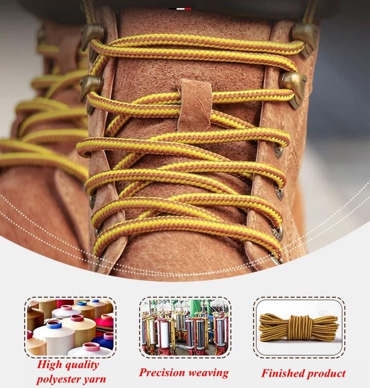 1 пара колготок в полоску двойной Цвет шнурки ботинки на открытом воздухе спортивные шнурки хлопок Круглые Шнурки 18 Цвета Длина 70 см, 90 см, 120 см 150 см