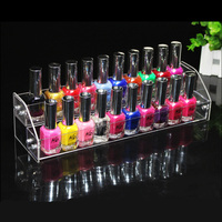 2 Tiers Lipstick Jewelry Display Stand Holder Detachable Clear Makeup Cosmetic Acrylic Organizer Nail Polish Rack