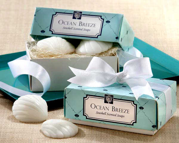 "Factory Fast Delivery Wedding Favor ""Ocean Breeze"" Scented Seashell Soap Favours Favors Party Decoration Baby Show Wholesale"