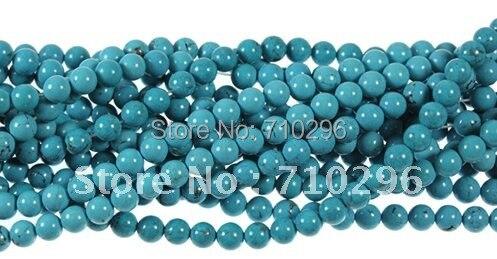 10strands/лот turquois e Бусины 4 мм Круглый Магнезит Бусины Свободные драгоценного камня Бусины 40 см/strand