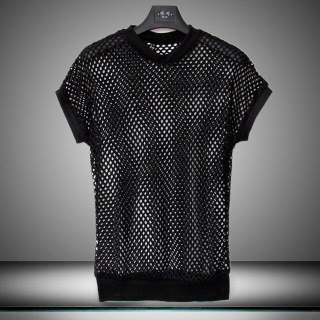 Mens Cava Europeo T Maglia Novità Hip Metrosexual Hop Shirt FK1lTJc