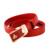 Cinto de moda Sólidos para as mulheres 100% Genuínos cintos de Couro Dividir Couro do couro macio feminino cinta fivela de metal cintos de vestido vermelho