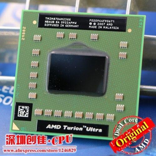 Free shipping Laptop processor used cpu AMD Turion x2 Ultra ZM 87 ZM87 ZM 87 TMZM87DAM23GG 2.4GHz Socket S1 zm 82 zm 82 zm82|socket s1|laptop processors|turion x2 ultra -