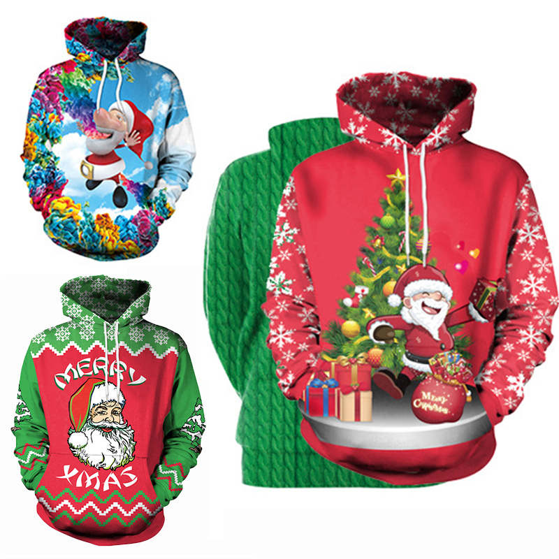unisex men women 2018 ugly christmas sweater vacation santa elf funny christmas sweaters jumper autumn winter tops clothing in pullovers from womens