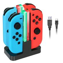 Charging Dock Stand for Nintendo Switch KINGTOP Joy-Con Controllers Charger Station with Individual LEDs Indicator
