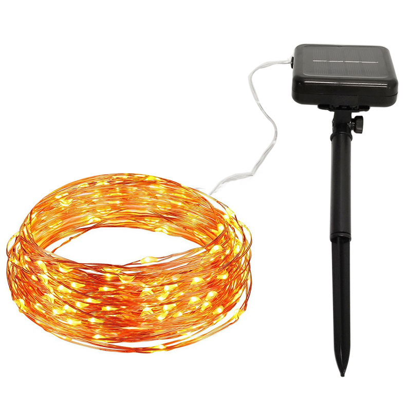 Solar String Lights 10M 20M 32M Copper Wire String Fairy Lights Waterproof Christmas Solar Power Lamp For Garden Decoration