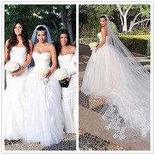 Fnoexw Royal Train Ball Gown Wedding Dresses 2019
