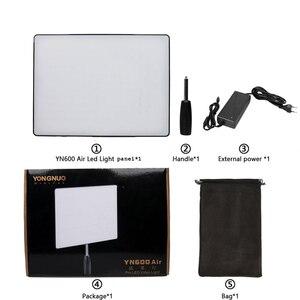 Image 5 - YONGNUO YN600 Hava YN600 Ultra Ince LED kamera Video Işığı 3200 K 5500 K, isteğe bağlı Şarj + 2 Adet Pil + AC güç adaptörü