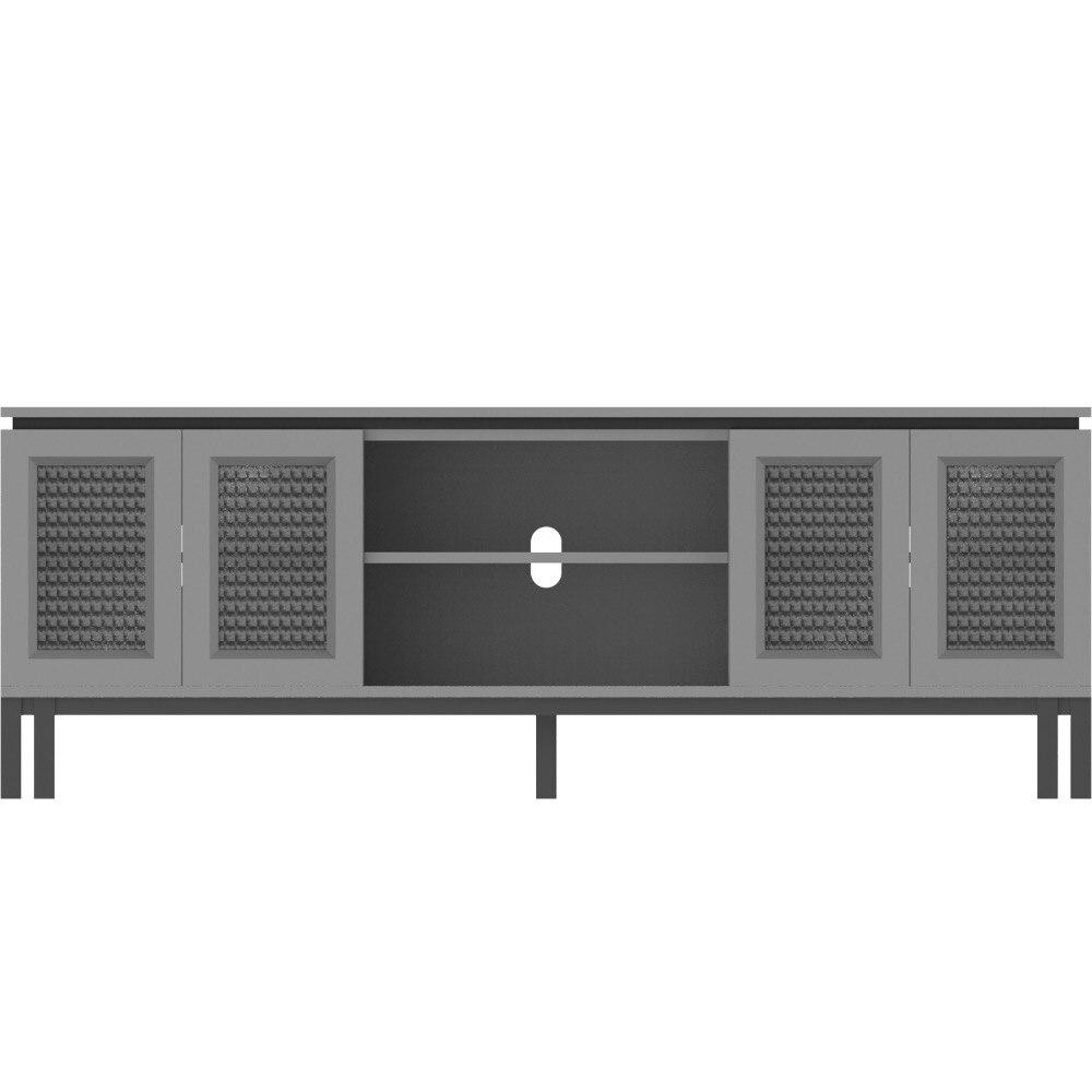 [InYard original] Nordic cabinet original furniture/silk glass cherry wood fog TV table