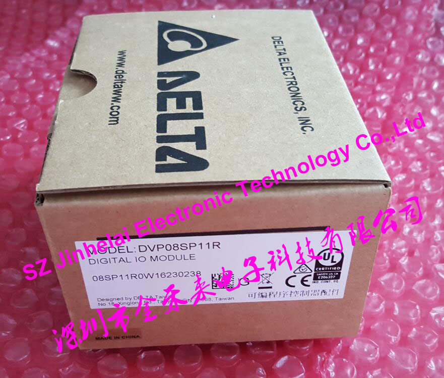 100% New and original DVP08SP11R  DELTA   PLC, 8 point extension, 4 input / 4 output relay output new ac220v 28 point npn input 20 point transistor output xd3 48t e plc