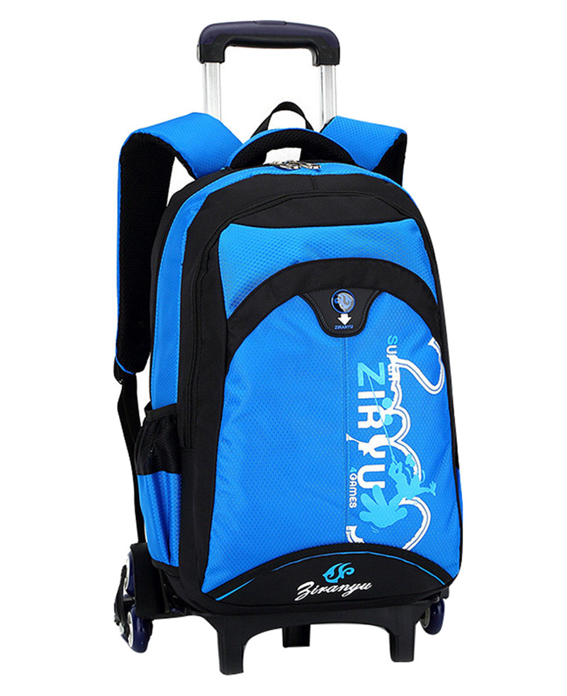 ФОТО Guaranteed 100% High Quality Triple Wheels Children's School Bag Detachable Backpack For Children Fashion Trolley Kids Backpacks