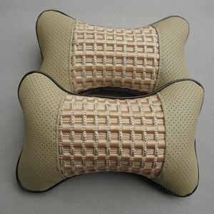Image 2 - Car seat head cushion Car headrest neck headrest Car Danny leather auto Seat Cover Car Cushion