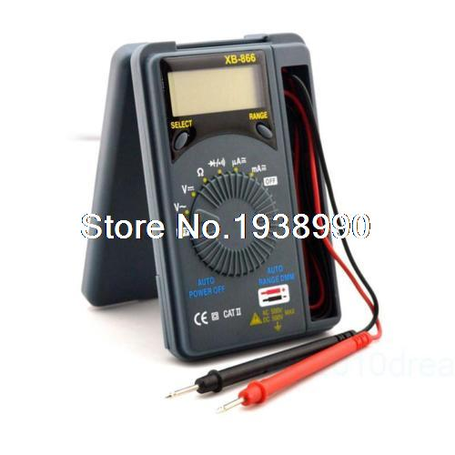 LCD Range Auto Digital Pocket Voltmeter Multimeter Tester Tool AC/DC XB-866 Mini aimo m320 pocket meter auto range handheld digital multimeter