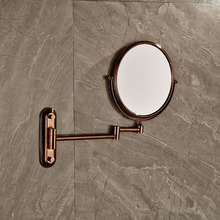 Rose Gold Mirror Beauty Makeup Mirror Dual Sides Round Mirror Magnifying Mirror 8 Sides
