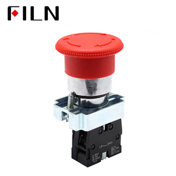 цена на 1 NO 1 NC  Latching Red Mushroom Emergency Stop Red Push Button Switch 600V 10A XB2-11ZS_R