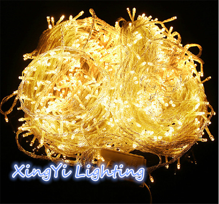100M 600 LED String Light Christmas Outdoor Decoration Wedding Party Twinkle Fairy Lights Warm White 220V EU 10m 100 led 110v 8 mode fancy ball lights decorative christmas party festival twinkle string lamp strip rgb us plug