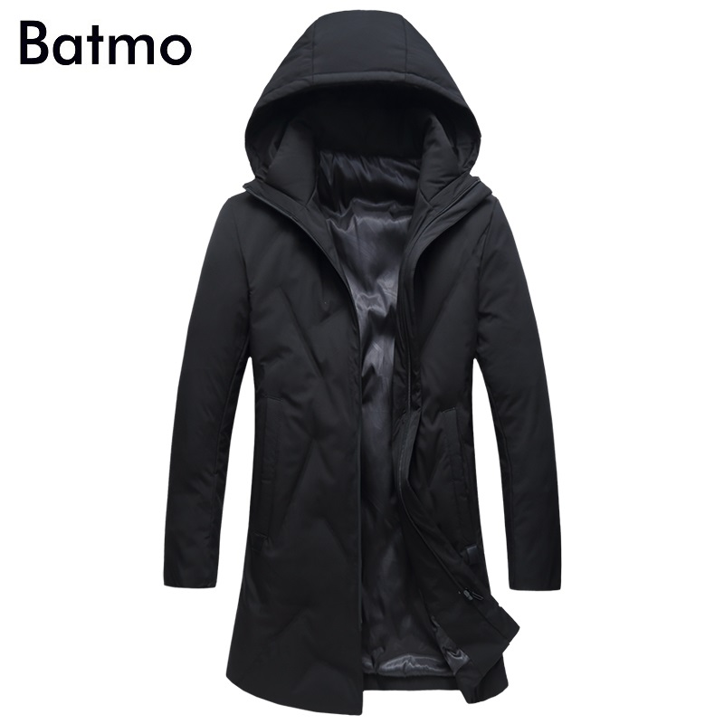 Batmo 2018 new arrival winter high quality 80% white duck   down   casual hooded jackets men,men' warm winter   coat   plus-size 1885