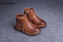 Бесплатная доставка 2018 Весна Зима Новая обувь мальчиков кожаные туфли обувь для детей много стиль lbt61