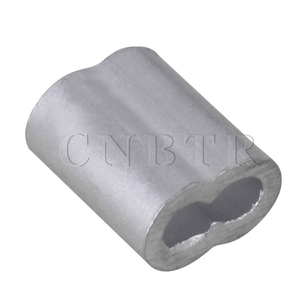 CNBTR Aluninum Double Ferrules Crimping Loop Sleeve for Wire Rope M2 ...
