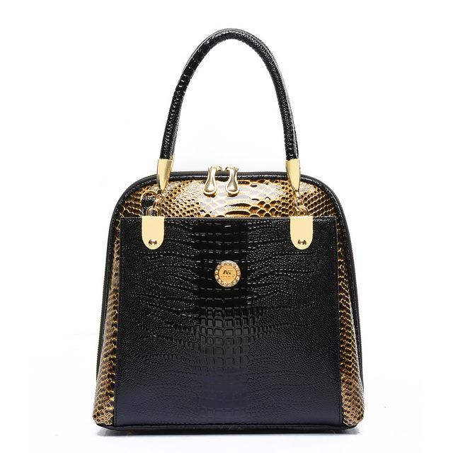 afc5f4647a OLIGITUM 2018 New Fashion Women s Shell Bag Hot Sale Embossed Handbag  Crocodile Pattern Tote Bag patchwork Ladies Handbags