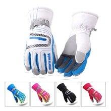 Водонепроницаемые супер теплые перчатки унисекс высококачественные лыжные перчатки зимние уличные перчатки для горных лыж дышащие перчатки для сноуборда