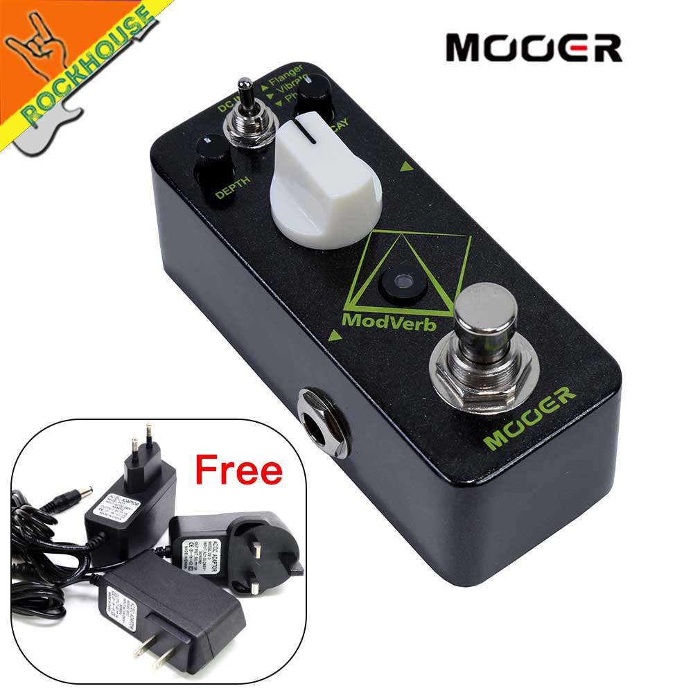 Mooer ModVerb Reverb Guitar 3 Modulation Effects: Flanger Vibrato Phaser Nice Ambient High quality pristine digital reverb Tone