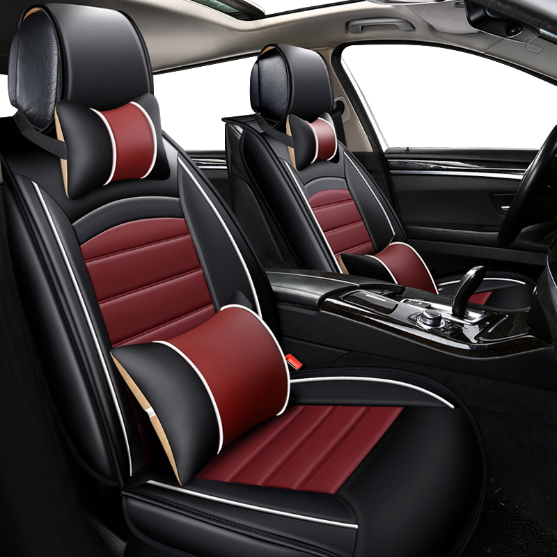 KOKOLOLEE PU leather car seats cover set for ford focus 2013/2014/2015/2016 mondeo kuga Fiesta Edge Explorer auto seat covers цена