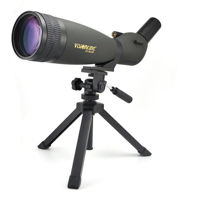 with Tripod Visionking 30-90X90 Telescope Angled Waterproof Spotting Scope Outdoor Hiking Bird Watching Portable HD Monocular