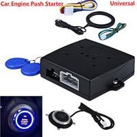 Кнопка зажигания двигателя автомобиля RFID замок стартер зажигания бесключевое устройство для включения и отключения иммобилайзера