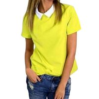 Fashion Women Casual Blouse Short Sleeve Loose Summer Chiffon Shirt Tops Shirt Blouse Lady