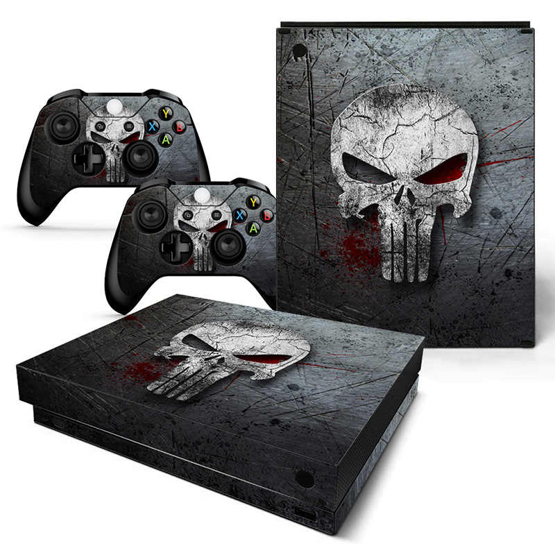 For XBOX ONE X console sticker and 2 controllers sticker for XBOX ONE X vinyl sticker for xbox one X skin sticker---0889