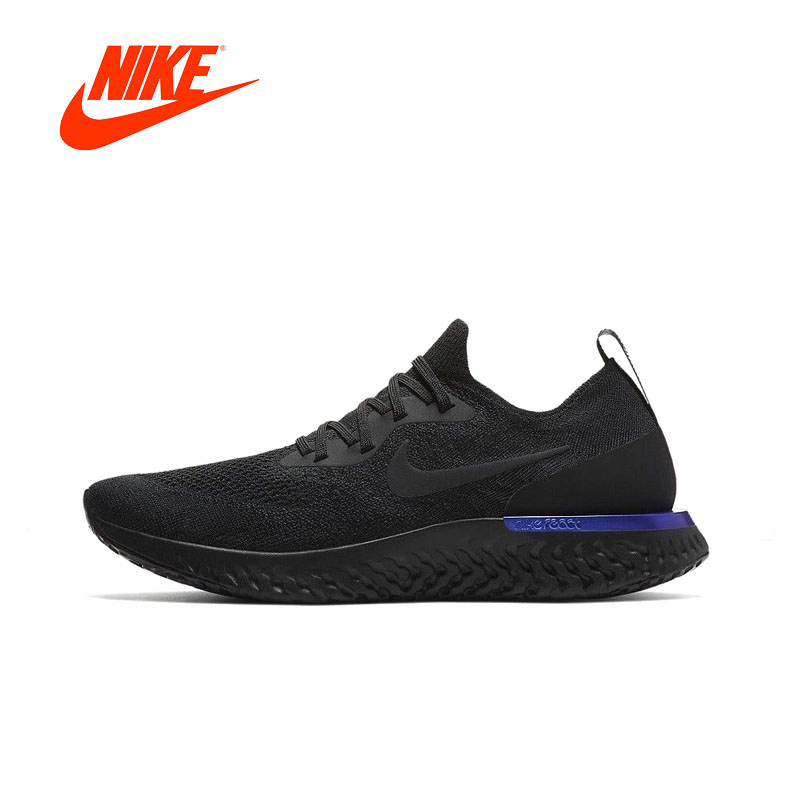 Original New Arrival Authentic Nike Epic React Flyknit Men's Breathable Running Shoes Sport Sneakers Good Quality AQ0067-004 кроссовки nike [3 flyknit lunar 698181 002 004 010
